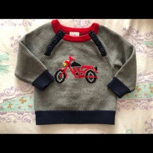 Hanna Andersson Boys size 70 or 6-12 mo sweater